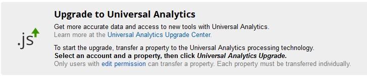 您已经可以升级GA到下一代Universal Analytics