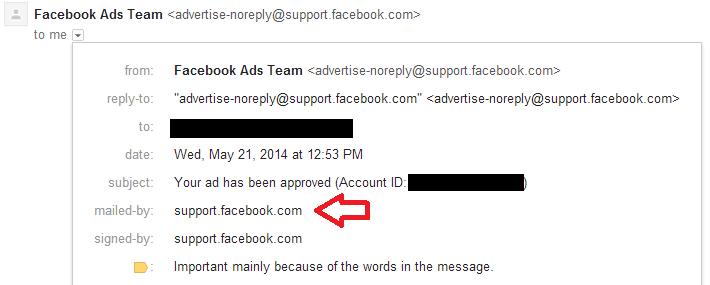 SPF验证显示在Mailed-by字段