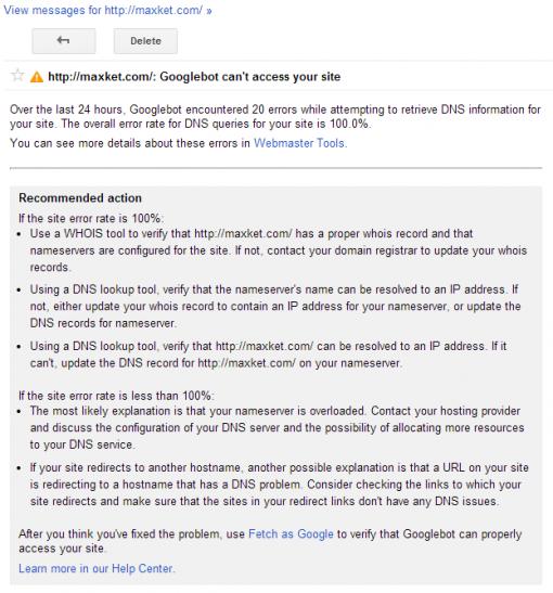 谷歌无法访问你的网站
