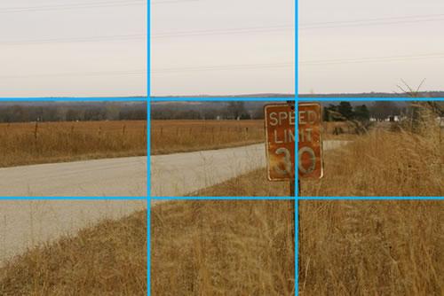 应用三分法拍摄风景