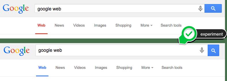 谷歌对导航文字进行测试,蓝色最终胜出