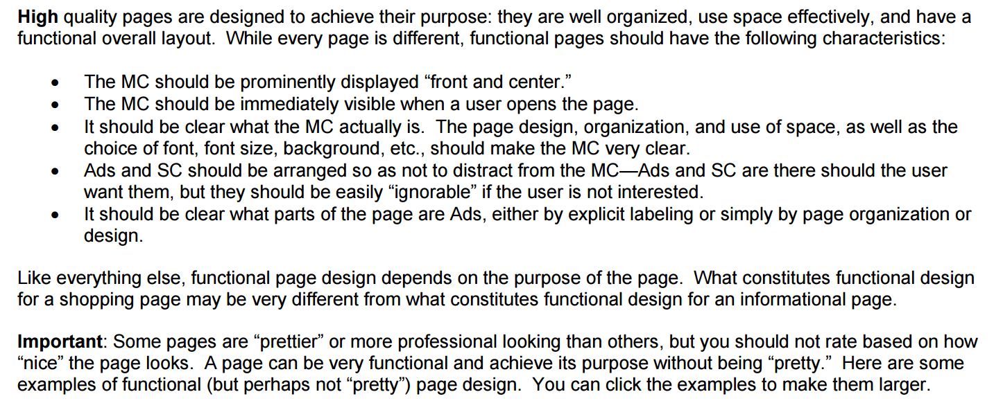 """谷歌明确指出高质量的网页和""""漂亮""""的网页没有关系"""