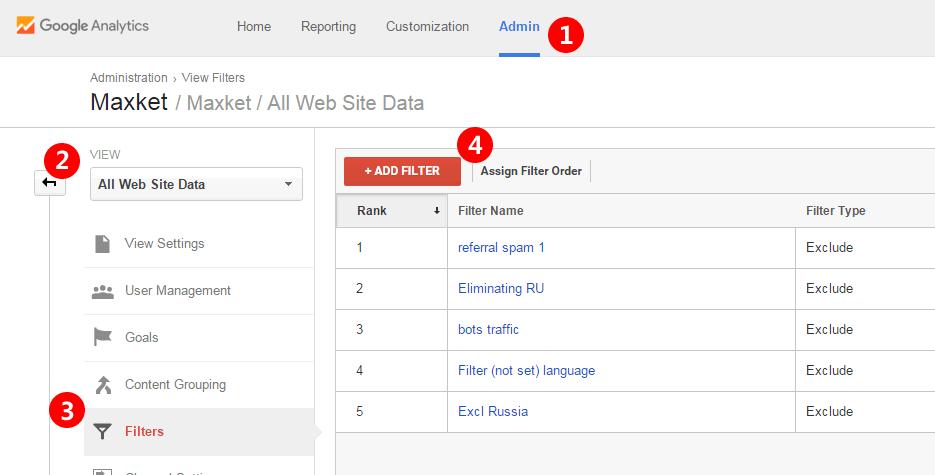 在Google Analytics中轻松添加过滤器