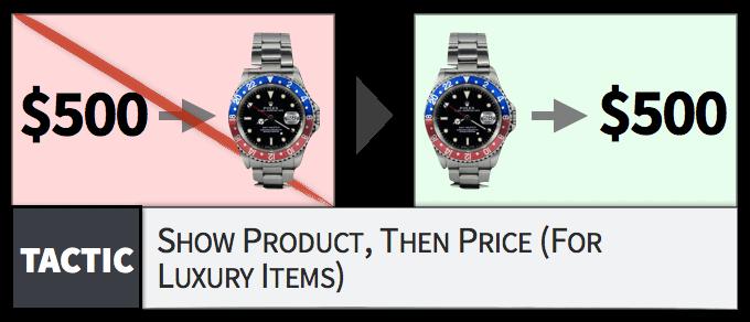 对于奢侈品和值钱货,要先货后价