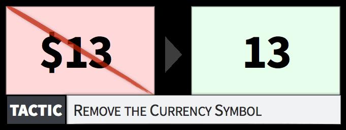去掉货币符号