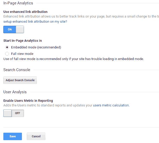 启用Users作为标准的报表指标