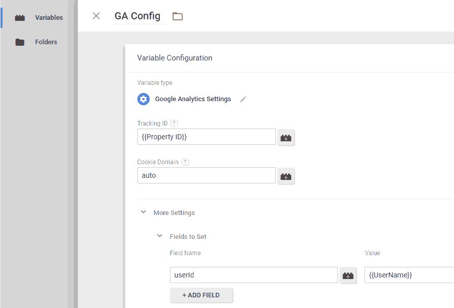 只需在GA Variable Config的变量中新加字段